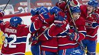 Hokejisté Montrealu se radují z postupu