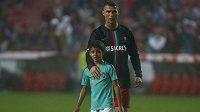Cristiano Ronaldo se svým synem