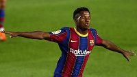 Mladíček Ansa Fati se výrazně podílel na výhře Barcy nad Villarealem