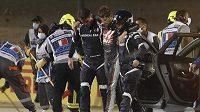 Romain Grosjean má za sebou děsivou nehodu, naštěstí bez vážnějších následků