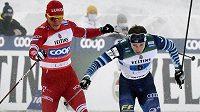 Skandální závěr měla štafeta mužů na Světovém poháru běžců na lyžích v Lahti.