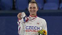 Markéta Vondroušová se stříbrnou olympijskou medailí