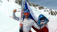 Rychlostní lyžař Radek Čermák znovu zlepšil český rekord.