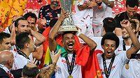 Fotbalisté Sevilly po vítězném finálovém utkání Evropské ligy