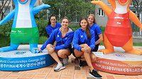 České plavkyně (zleva) Anika Apostalon, Barbora Závadová, Barbora Seemanová a Simona Kubová na MS v Kwangdžu.