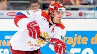 Jevgenij Malkin v dresu ruské hokejové reprezentace.