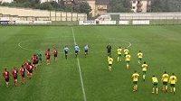 Fotografie z přípravného utkání na oficiálním twitterovém účtu Norwiche.