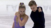 Český sourozenecký taneční pár Natálie Taschlerová, Filip Taschler skončil třetí v závodě juniorské Grand Prix v krasobruslení