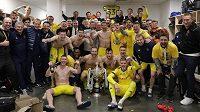 Fotbalisté Borisovu se radují z vítězství v poháru