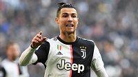 Cristiano Ronaldo v dresu Juventusu Turín.
