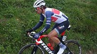 Nizozemský cyklista Koen de Kort na letošním ročníku závodu Kolem Flander.