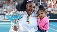 Serena Williamsová se svou dcerkou Olympií