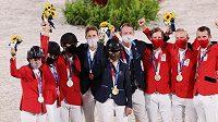 Dramatický finálový závod v parkuru družstev vyhráli jezdci Švédska