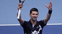 Novak Djokovič slaví postup do druhého kola turnaje ve Vídni