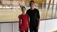 Martin Bidař se svou novou krasobruslařskou partnerkou Hannou Abrazevičovou.