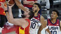 Basketbaloví mistři světa ze Španělska budou o premiérovou zlatou olympijskou medaili bojovat v Tokiu i s Juanchem Hernangómezem, který původně z nominace vypadl kvůli zranění ramena z úvodu přípravy. (ilustrační foto)