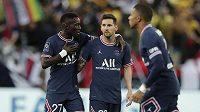 Lionel Messi poprvé v dresu PSG nastouupil do duelu proti Remeši jako střídající hráč
