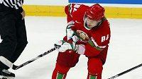 Běloruský hokejista Michail Grabovskij.