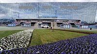 Ledový palác v Moskvě, kde v pátek začne mistrovství světa v ledním hokeji.