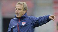 Trenér Američanů Jürgen Klinsmann před přípravným zápasem s Českem.