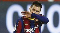 Lionel Messi z Barcelony při zápase se Sevillou.