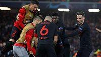 Obrovská radost fotbalistů Atlétika Madrid