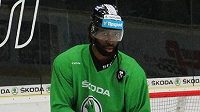 Jordan Blaine Samuels v dresu Mladé Boleslavi.