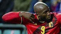 Belgičan Romelu Lukaku slav´gól do sítě Estonska v utkání kvalifikace MS ve fotbale.