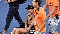 Mihaela Buzarnescuová utrpěla během zápasu vážné zranění