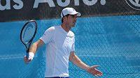 Tenista Andy Murray na tréninku