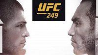 Tony Ferguson (vpravo) a šampion Chabib Nurmagomedov se mají potkat v kleci 18. dubna na galavečeru UFC 249. Otázkou je, kde to bude.
