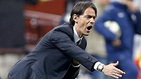 Rozladěný trenér AC Milán Filippo Inzaghi.