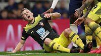 Fotbalista Southamptonu James Ward-Prowse utrpěl v utkání Anglického poháru proti Tottenhamu Hotspur děsivé zranění nohy.