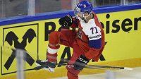 Tomáš Hyka z ČR se raduje z prvního gólu do rakouské branky.
