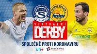 Slovácko a Zlín sehrají virtuální derby