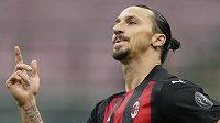 Švédský útočnk AC Milán Zlatan Ibrahimovič.