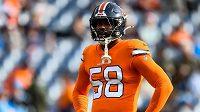 Von Miller z Denveru Broncos je druhým hráčem ze zámořské ligy amerického fotbalu NFL s nemocí covid-19.