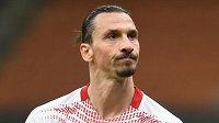 Fotbalista AC Milána Zlatan Ibrahimovic v utkání Evropské ligy proti Crvené zvezdě Bělehrad.