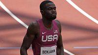 Američan Rai Benjamin získal stříbro v závodě na 400 m překážek.