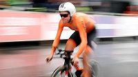 Ženskou časovku na mistrovství Evropy v silniční cyklistice v Glasgow vyhrála Nizozemka Ellen van Dijková