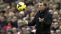 Kouč fotbalistů Liverpoolu Brendan Rodgers.