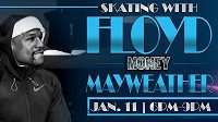 Floyd Mayweather, neporažený boxer vydělává i na bruslení.