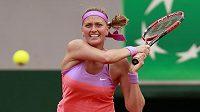 Petra Kvitová při utkání druhého kola French Open proti Španělce Silvii Soler Espinosové.