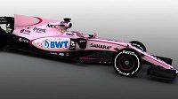 Takhle vypadá zbarvení monopostu stáje Force India.