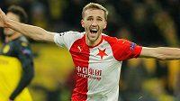 Tomáš Souček slaví svou trefu do sítě Dortmundu