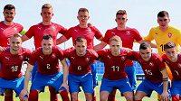 Český tým do 21 let před zápasem s Islandem.