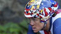 Americká favoritka Kristin Armstrongová na trati olympijské časovky.