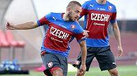 Jiří Skalák na tréninku české fotbalové reprezentace.