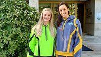 Loni parťačky, letos soupeřky. Simona Kubová (vlevo) v barvách týmu Tokyo Frog Kings, Anika Apostalon letos v ISL obléká dres Toronto Titans.