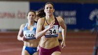 Zuzana Hejnová z Dukly při nedávném mistrovství republiky v Praze. Vyhrála běh na 400 metrů časem 52,76 vteřin.